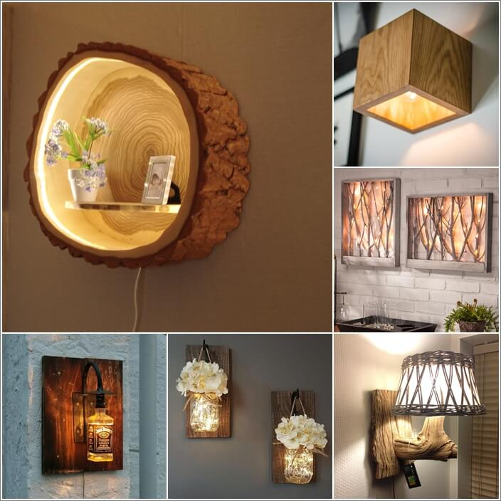 10 Creative and Unique DIY Wall Lamps