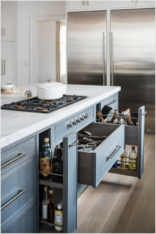 kitchen pull out drawers where can i buy an island for my 10 wonderful near stove storage ideas