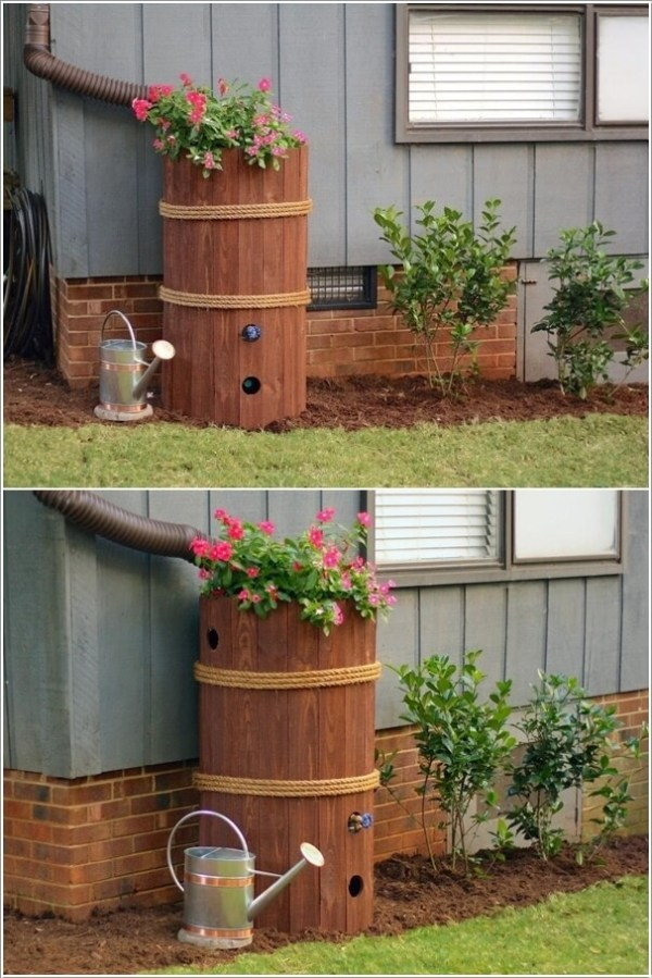 clever downspout landscaping