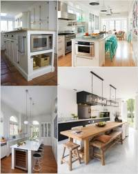 Interesting Ideas to Decorate Long and Narrow Kitchens