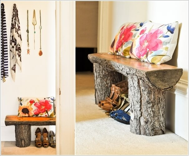 How About Decorating With Log Furniture This Fall