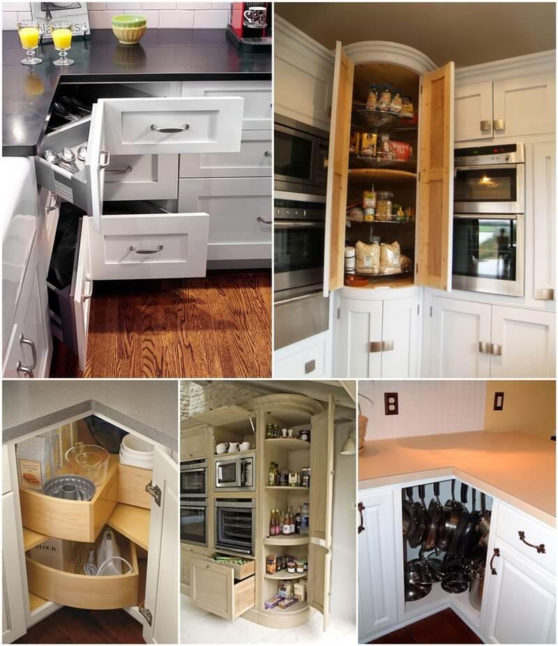 Clever Corner Kitchen Storage Ideas