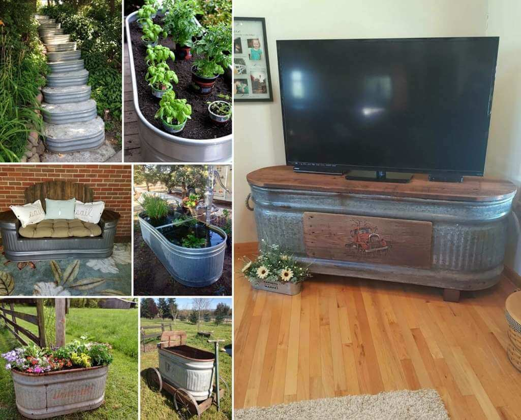 Clever Ways to Repurpose a Water Trough
