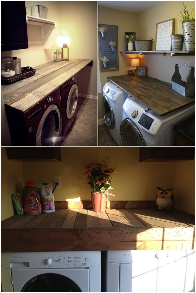 Decorate Your Laundry Room with Pallets