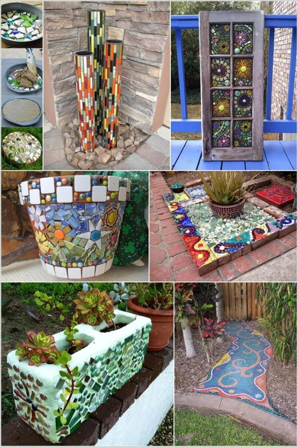 DIY Mosaic Garden Projects