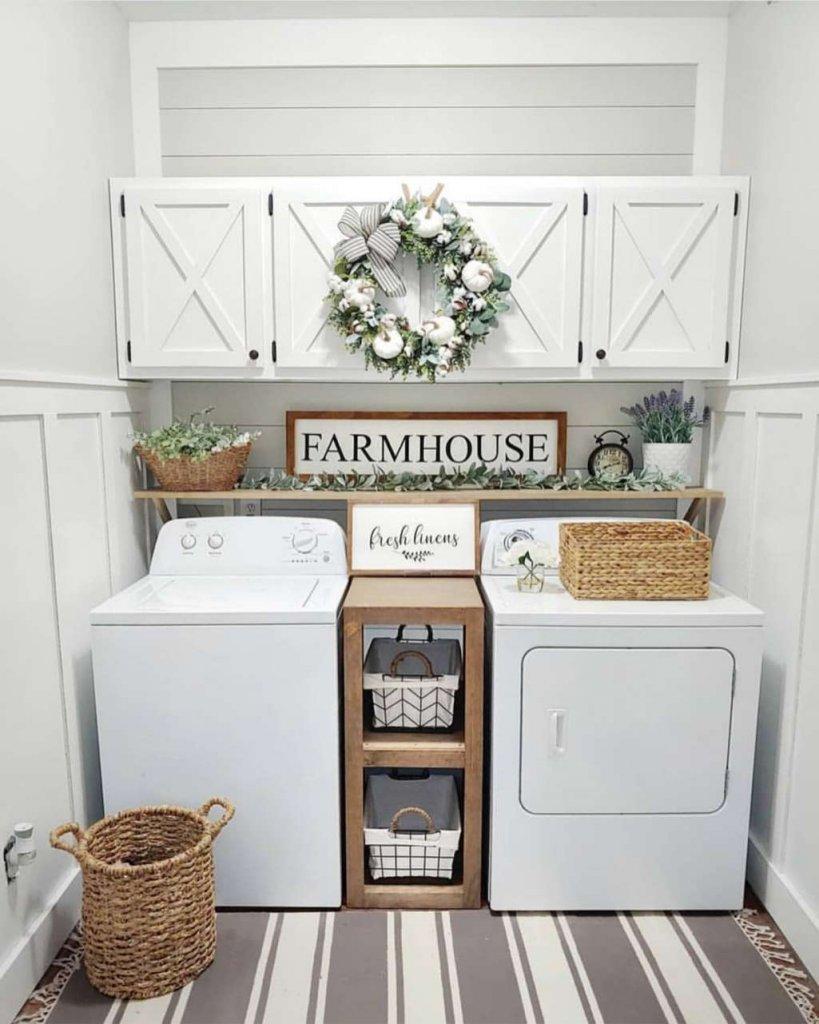 Farmhouse Style Laundry Room Decor Ideas