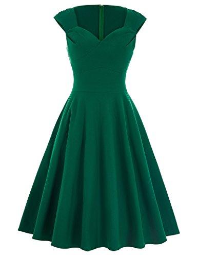 Belle Poque 50s Vintage Rockabilly Kleid Festliches Kleid Partykleider Petticoat Kleid