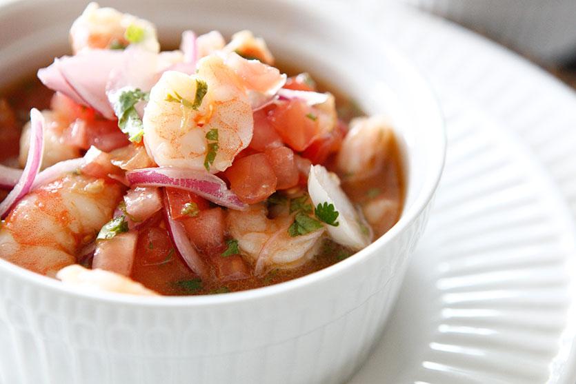 Ecuadorian Shrimp Ceviche - by AmazingPaleo.com
