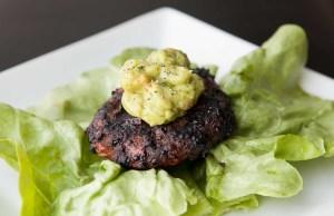 Paleo Bison Burgers with Guacamole recipe
