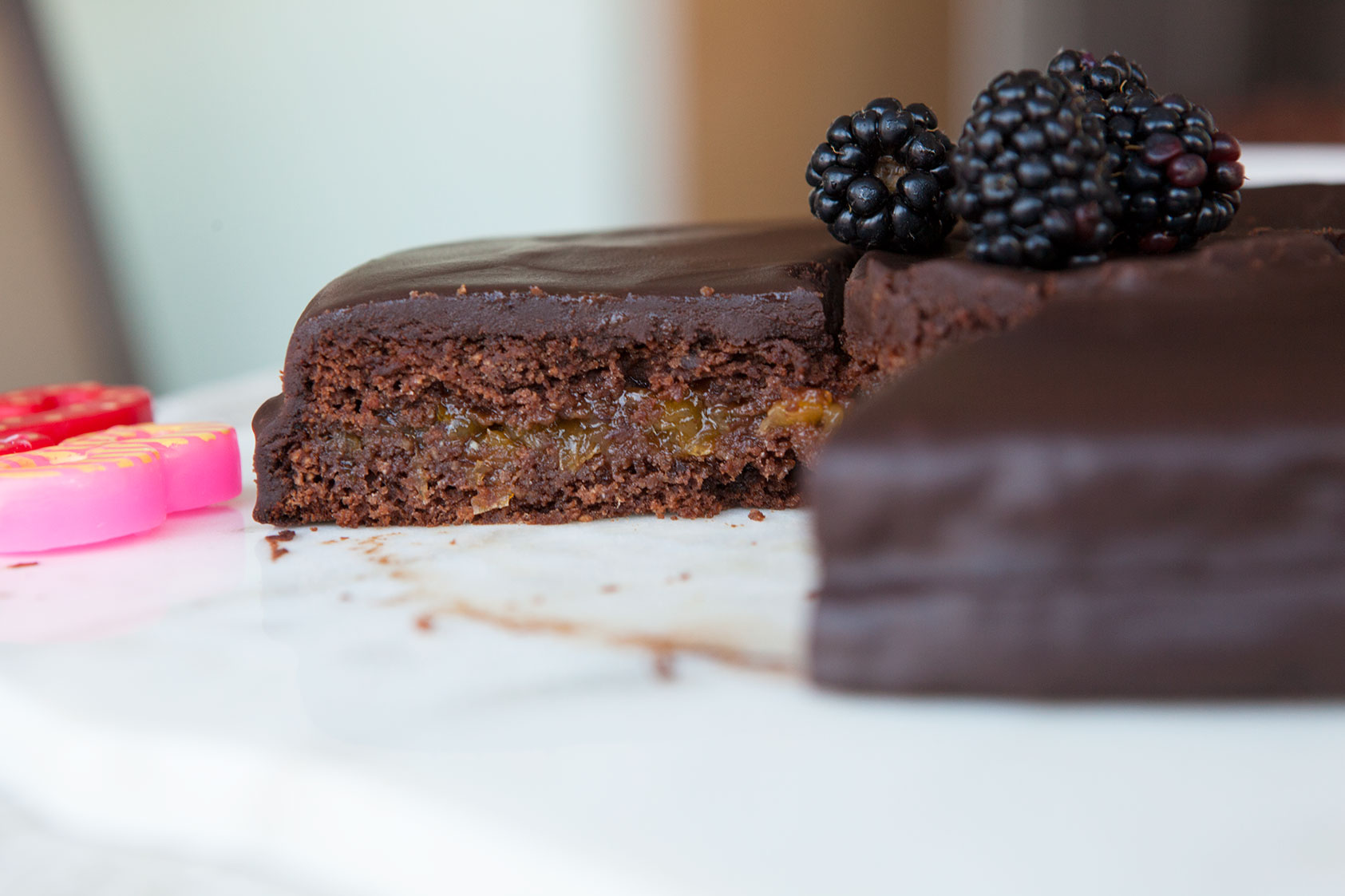 Nut Free Chocolate Birthday Cake by AmazingPaleocom