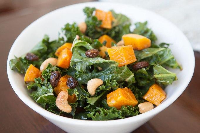 Roasted Butternut Squash Kale Salad