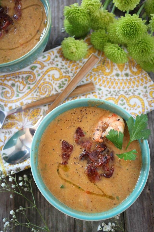 Creamy Cauliflower Shrimp Chowder