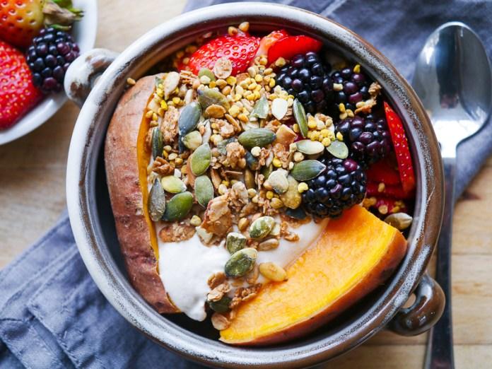 Sweet Potato and Berries Breakfast Bowl