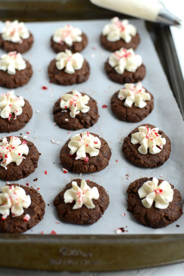 PALEO HOT COCOA COOKIES WITH VANILLA BEAN FROSTING