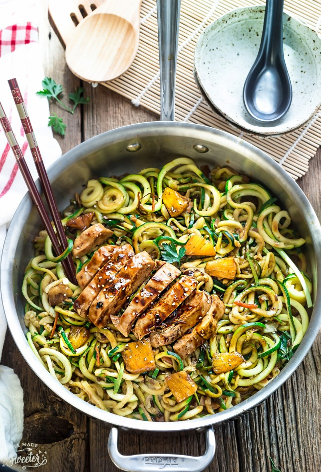 One Pot Chicken Teriyaki Zoodles