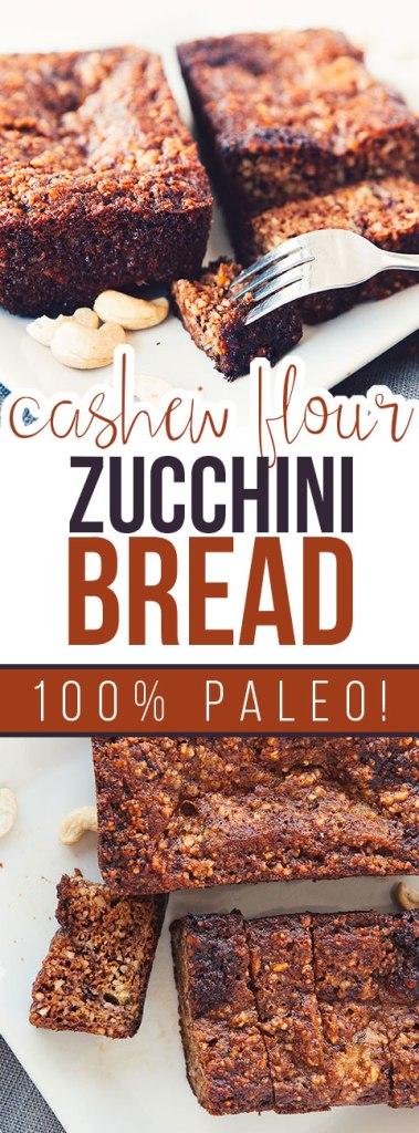Cashew Flour Zucchini Bread