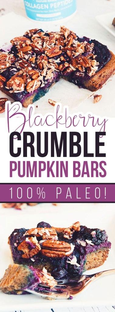 Blackberry Crumble Pumpkin Bars