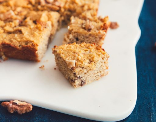 Banana Nut Protein Squares