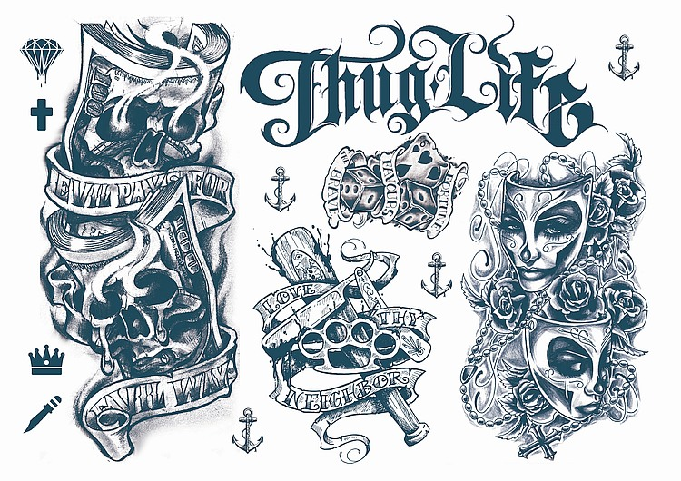 Mexican Gangster Tattoo Designs