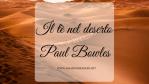 Il tè nel deserto, di Paul Bowles
