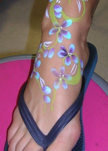 foot flowers prom