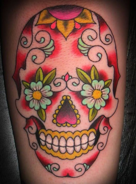 20 Body Flowers Tattoos Sugar Skulls Ideas And Designs