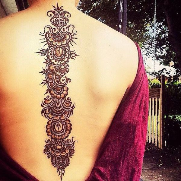 intricate mehndi tattoos
