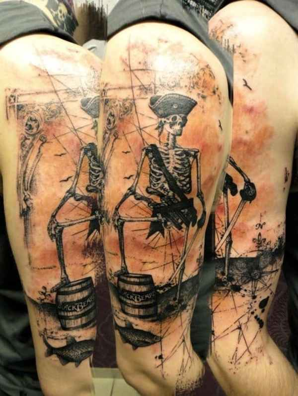 awesome skeleton tattoos amazing