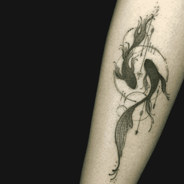 Gemini Pisces Together Tattoos And