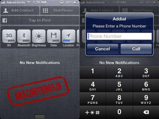 Addial is a free iphone jailbreak tweak