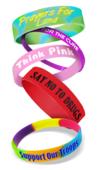Fundraising Wristbands - Custom Personalized Bracelets
