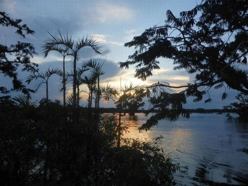 Sunset Laguna Grande Cuyabeno Amazon tour Ecuador