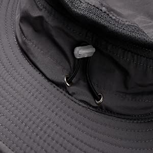 Rear adjustable elastic drawstring design, Hat size can be adjusted.