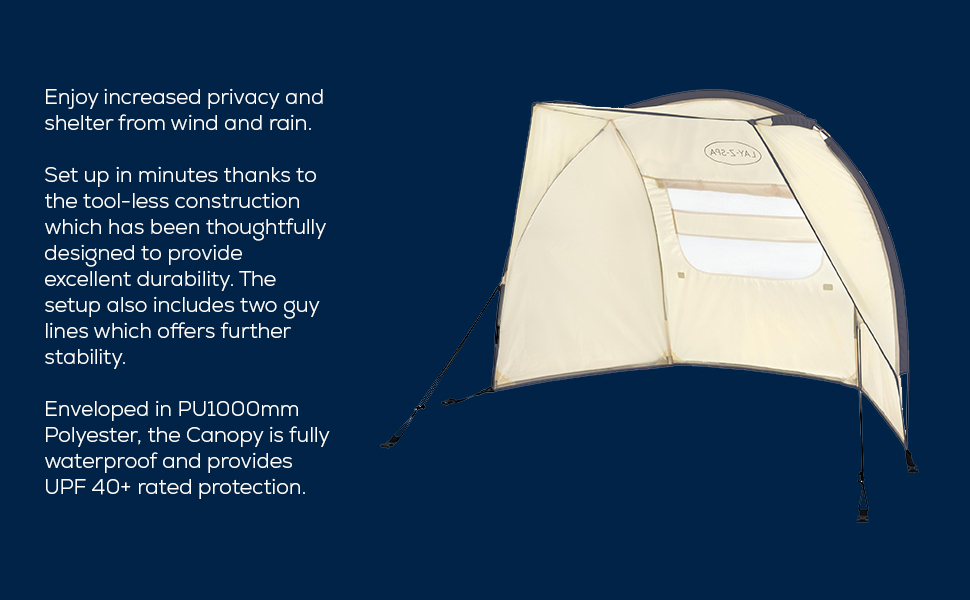 Lay-Z-Spa canopy shelter for wind/sun protection and added privacy
