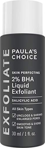 Paula's Choice Skin Perfecting 2% BHA Liquid Salicylic Acid Exfoliant, Gentle Facial Exfoliator for Blackheads, Large Pores, Wrinkles & Fine Lines, Travel Size, 1 Fluid Ounce - PACKAGING MAY VARY 3