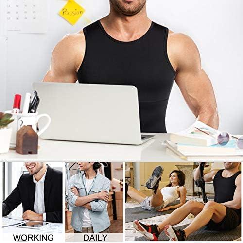 Mens Compression Shirt Slimming Body Shaper Vest Workout Tank Tops Abs Abdomen Undershirts 7
