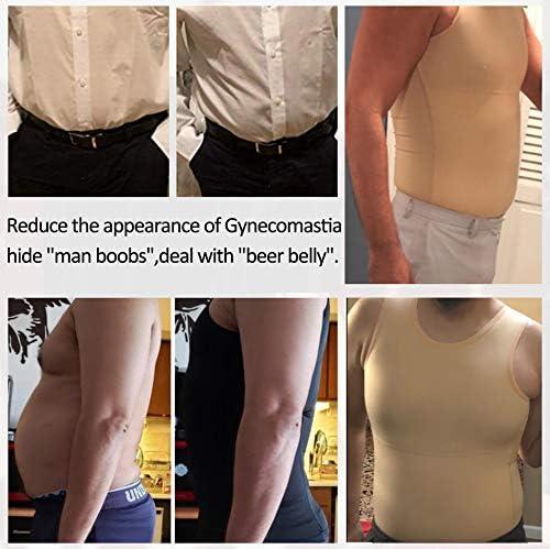 Mens Compression Shirt Slimming Body Shaper Vest Workout Tank Tops Abs Abdomen Undershirts 8