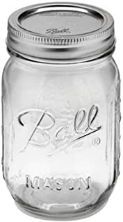 Ball Pint Jar, Regular Mouth, Set of 12, (16 oz)