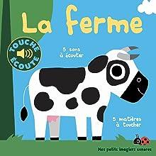 Âne , Animaux , Cochon , Éveil , Ferme , Imagier , Poule , Vache, livre bébé, livre naissance,