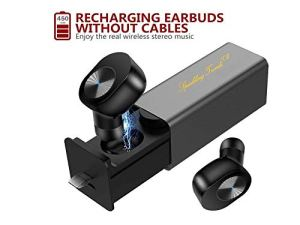 SPARKLING TRENDS® BASS MAXX Series with Solid Digital BASS Bluetooth V4.2 Ear-Buds with Charging Case (Pack of 2)