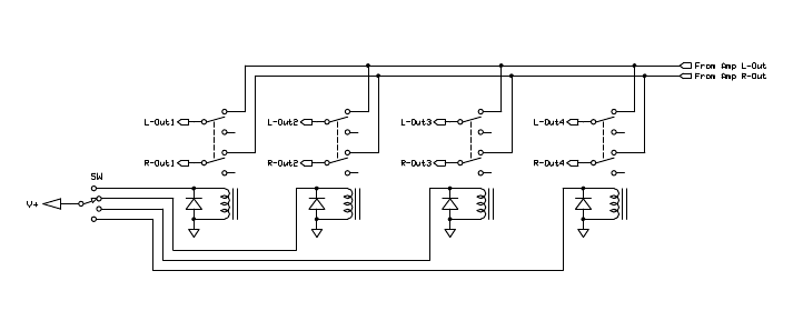 speaker selector switch wiring diagram 1998 bluebird bus amb laboratories diy audio • view topic - two 4pdt switches (cascade) instead of 4p3t switch?