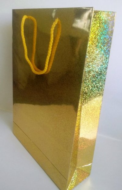 gold karton çanta
