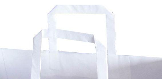 kağıt poşet düz sap örneği