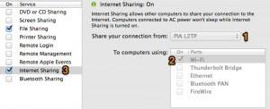 MAC Internet Sharing