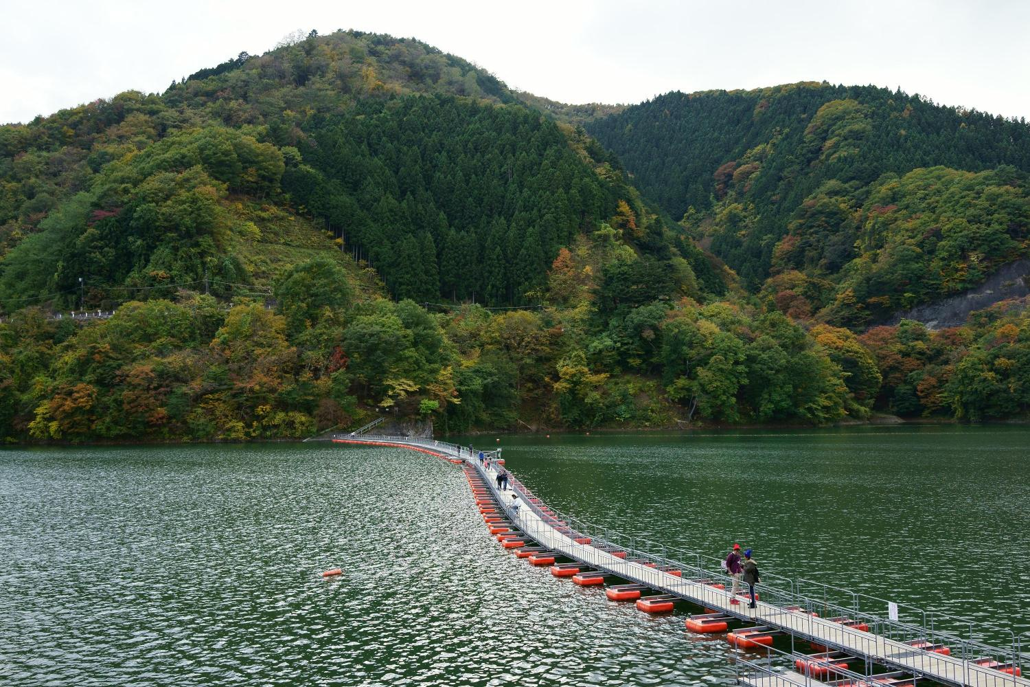 Mugiyama Floating Bridge On Lake Okutama Ambassadors Japan