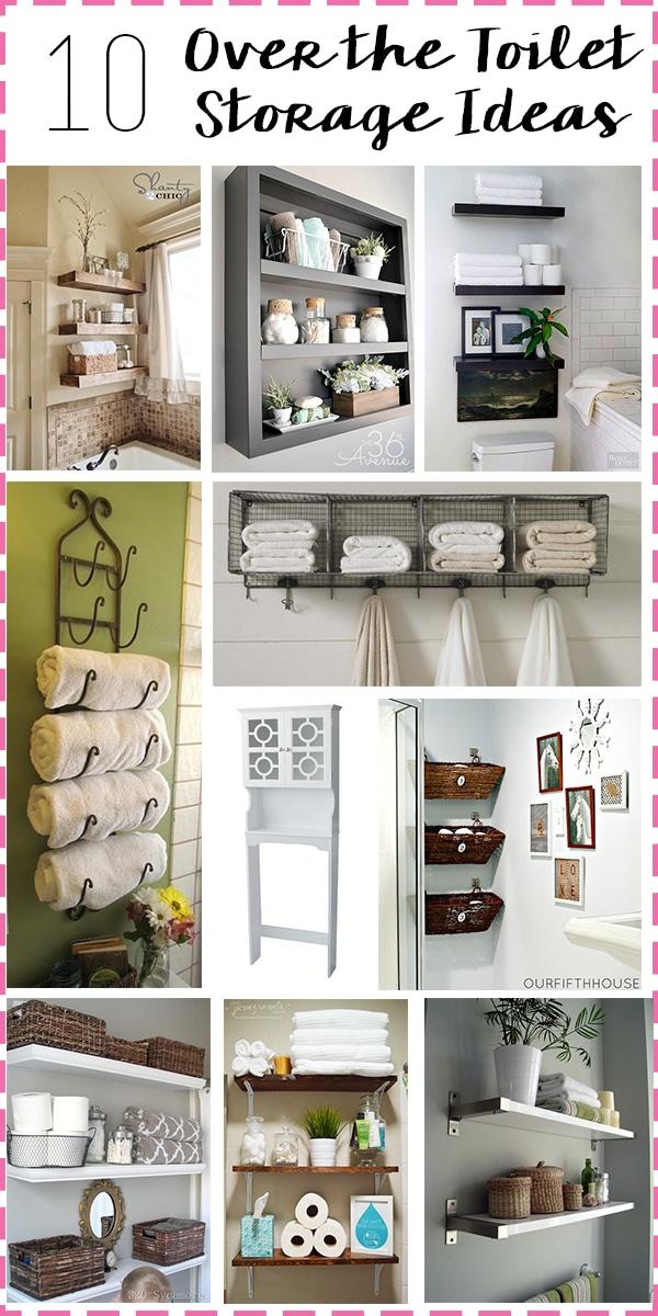 Bathroom Storage: Over The Toilet // Amber Oliver.com
