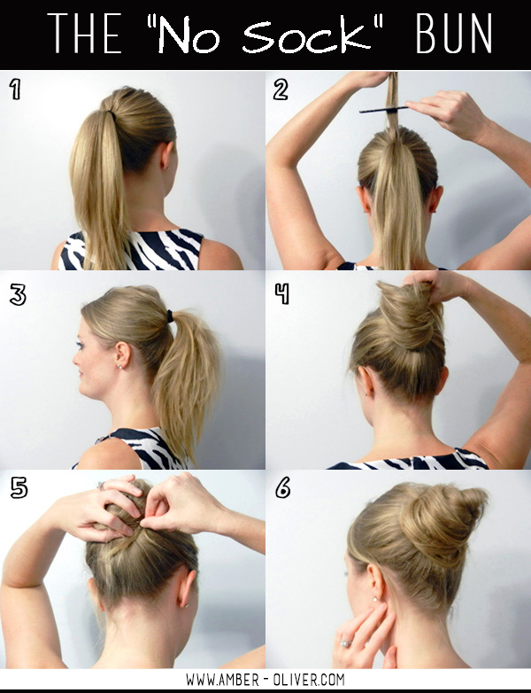 The No Sock Bun //amber-oliver.com
