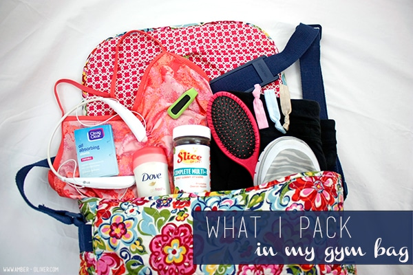 what i pack in my gym bag / amber oliver