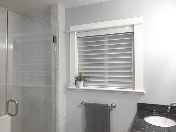 Master Bath Update - New Sheer Blinds from Blinds.com