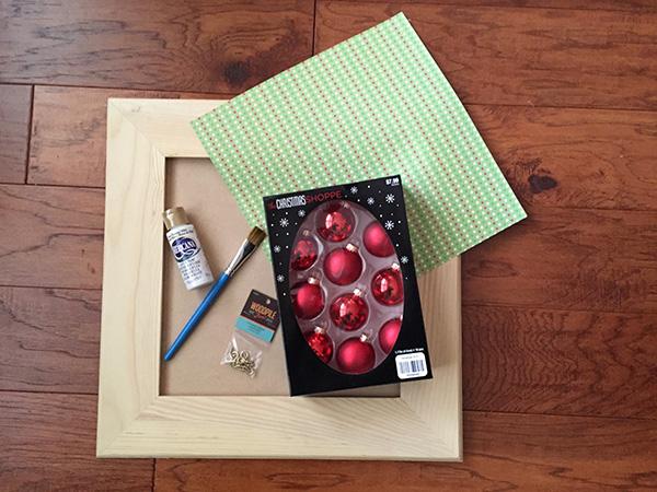 materials for Mini Ornament Advent Calendar